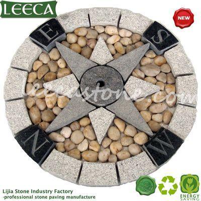 Split Joint Round Paver Plaza Decor Stone Paving Stone