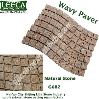 Granite wavy paver natural stone G682