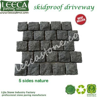 Dark gray granite natural finish skidproof driveway