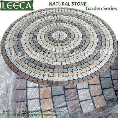 Circle Paver Kitfan Cobblesmesh Stone LEECA The