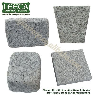 China white flower Silver grey granite paving slabs