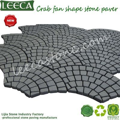 Peacock tail pattern paver garden stone