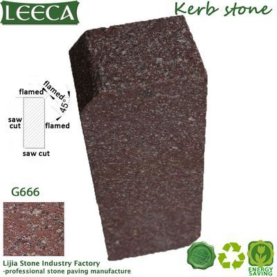 Red rose curb porphyry kerbstone