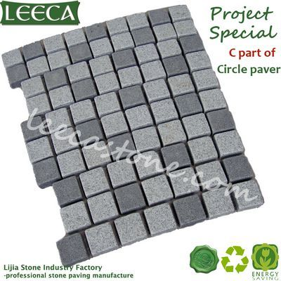 Natural stone circle paver building materials