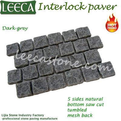 Qatar grey cobble granite interlock paver