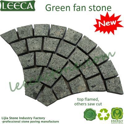 Saw cut porfido green porphyry stone