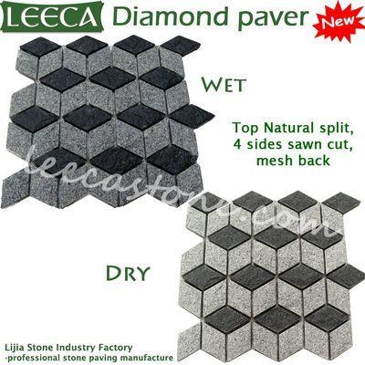 Red Diamond-Shaped Pavers