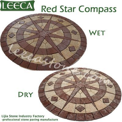 Decorative garden stones round paving stone