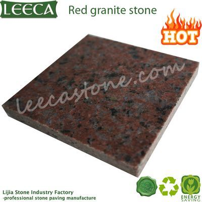 Polished finish red granite stone tile
