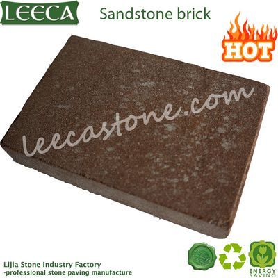 Brown sandstone natural stone brick