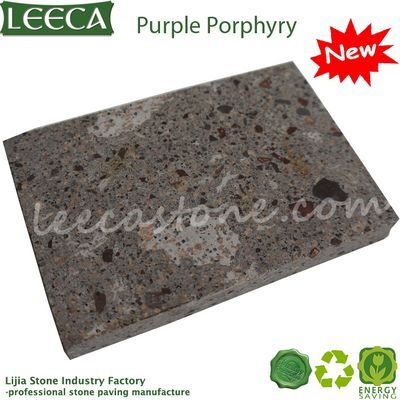 Natural purple stone porphyry tiles