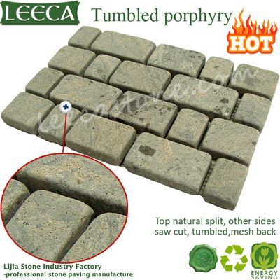 Tumbled porphyry stone interlock stone