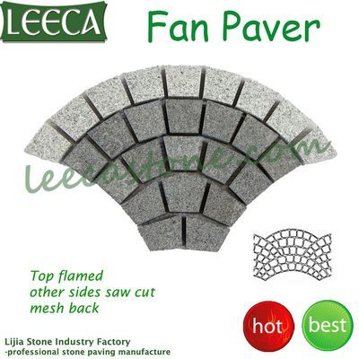 Granite fan mesh cobbles paving mats
