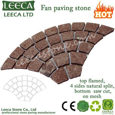 Red porphyry fan paving decorative stone
