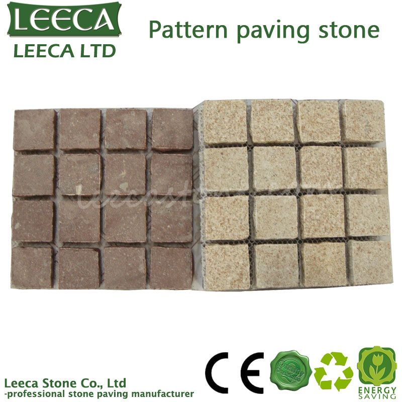 Color-matching-square-granite-paving-stone
