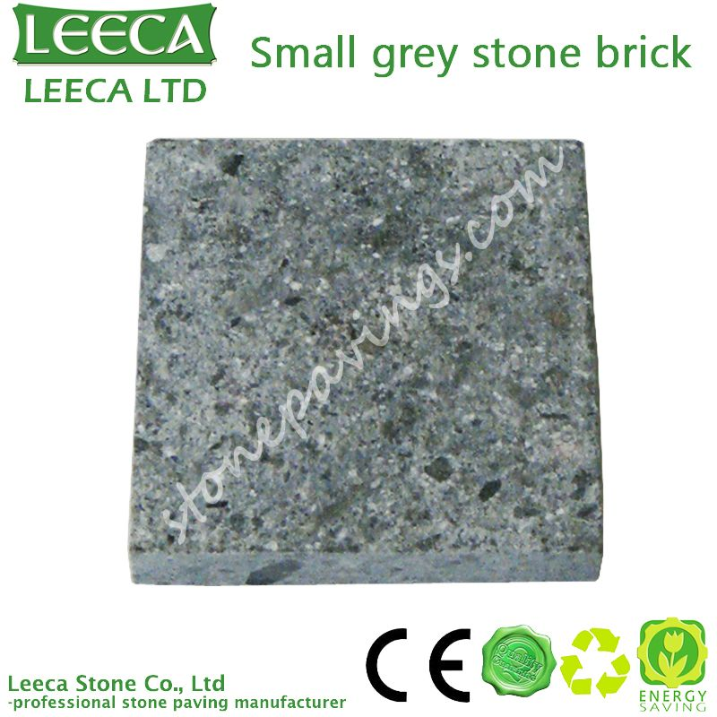 Small grey granite stone brick