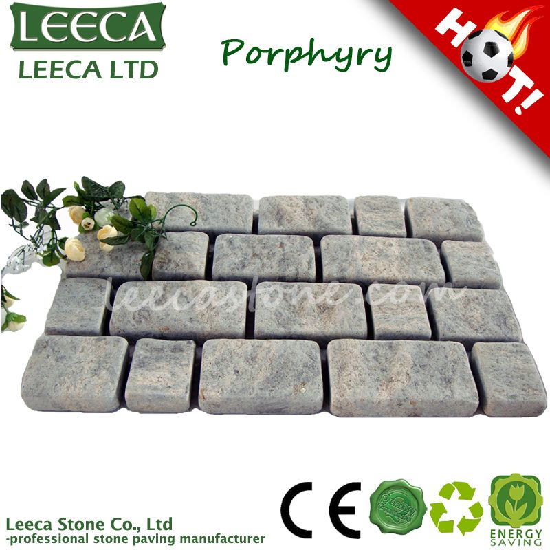 Colorful rose porphyry landscaping paving stone