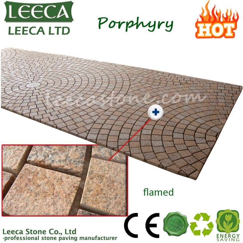 Cheap Granite Mesh Back Stone Paving