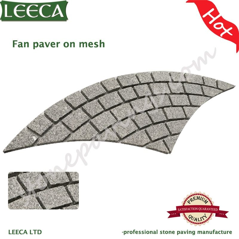 Fan light grey paving stones cheap patio paver stones