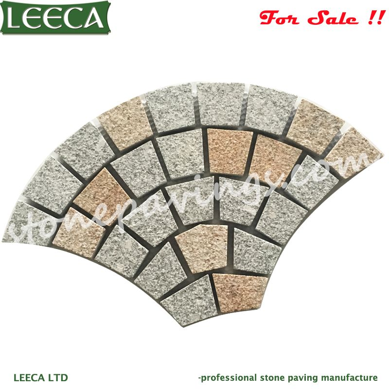Granite pavers fan pattern paving stones