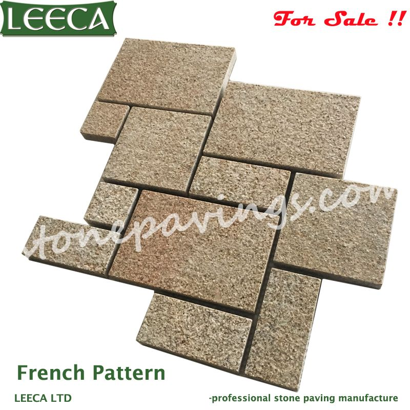 Yellow G682 mesh paving stone