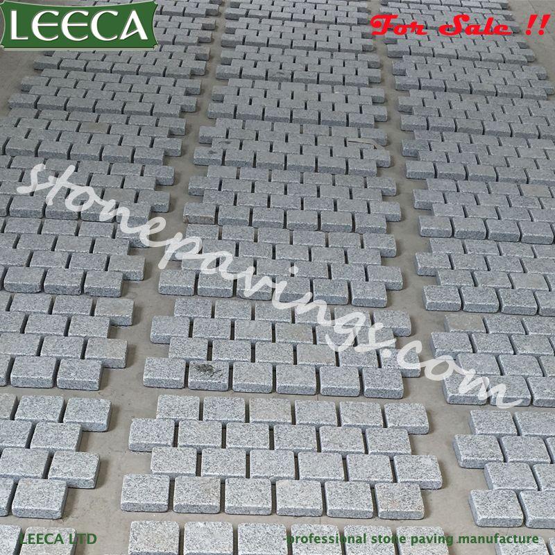 Light Grey Granite Stone Interlock Pavers Leeca The