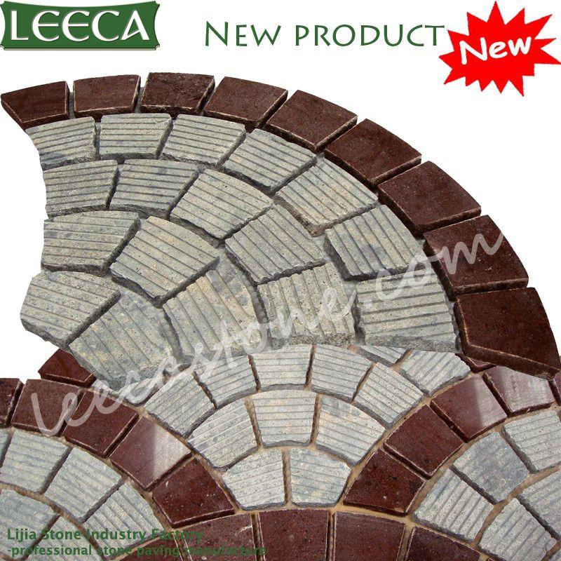 fan pattern granite stone pavers leeca the