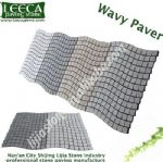 Natural granite wavy paver lowes paving stones