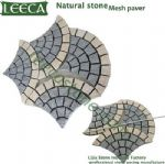 Chinese natural stone Euro fan granite mesh paver