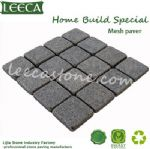 Natural granite dark grey stone mesh paver United Arab Emirates