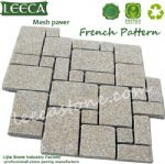 Beige yellow granite french pattern stone paving