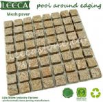 Pool around edging mesh paver cube stone