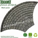 Plaza project mesh paver dark grey Euro fan stone