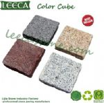 Color stone cube granite cobble stone pavers lowes