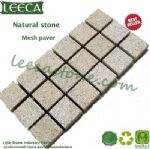 Bush hammered natural stone oblong paving