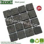 Leeca black basalt mesh paver stone paving