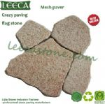 Garden edging stone irregular pattern granite paver