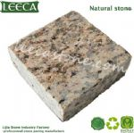 Fiddle back figure natural stone granite cube