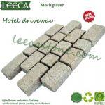 Interlocking hotel driveway mesh paver cobblestone mat