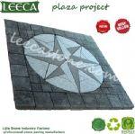 Plaza decorative stone star compass outdoor paver