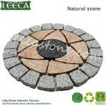 Garden stone round paver stone mesh back paver