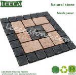 Parasol base garden decorative stone mesh paver
