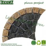 Strata rock fan shape paving granite paver