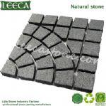 Diamond black cobblestone cheap paving stone paver