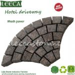 British Brown granite fan shape paving stone