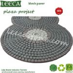 Split joint round paver plaza decor stone paving stone
