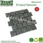 Natural split mesh paver paving boulder landscape edging