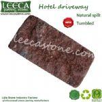 Brick red stone paver tile cheap paving stone