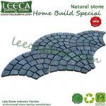 Amman gray granite cobblestone paver pathway stone