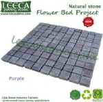 Purple porphyry driveway paving stone square cut flagstone